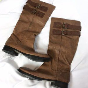 Nine West Brown Knee High Riding Boots